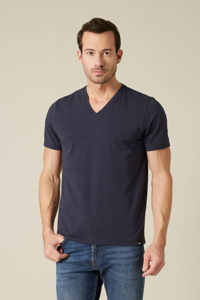 T-SHIRT LUXE PERFORMANCE NAVY