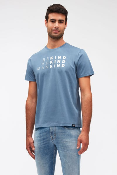 GRAPHIC TEE COTTON BE KIND SKY BLUE