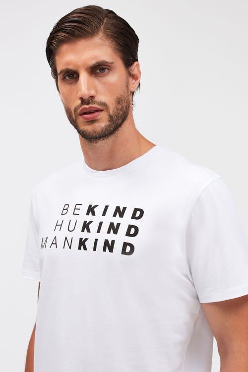 GRAPHIC TEE COTTON BE KIND WHITE