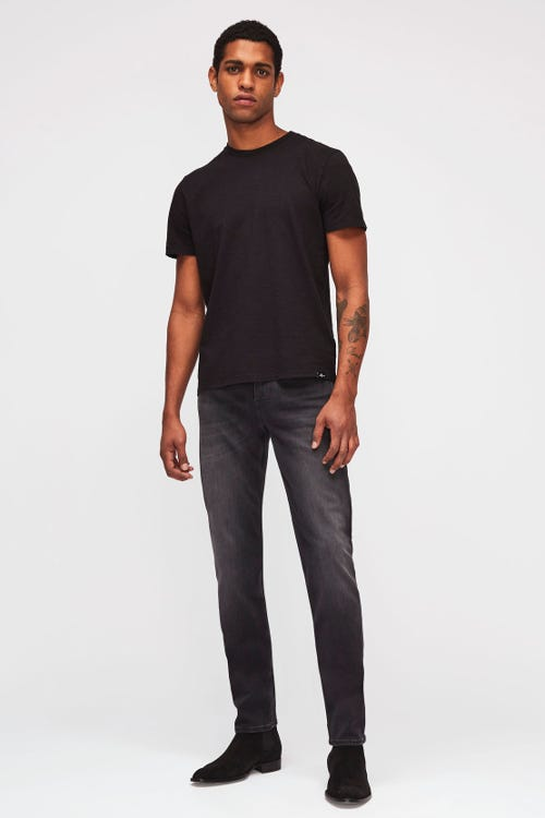 7 For All Mankind - Slimmy Tapered Luxe Performance Plus Washed Black