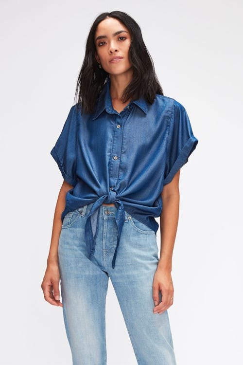 ANETT SHIRT DEL REY WITH EMBROIDERED MESSAGE