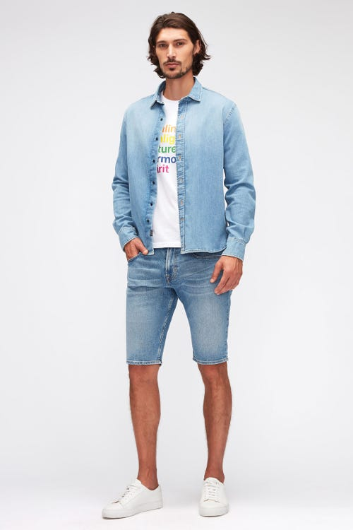 REGULAR SHORTS HEMET LIGHT BLUE