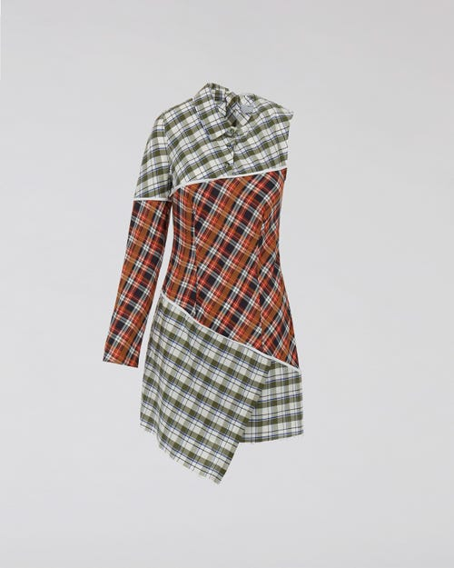 7 for all Mankind - PATCHWORK DRESS SHIRT MULTICOLOURS CHECKS M'A X 7FAM