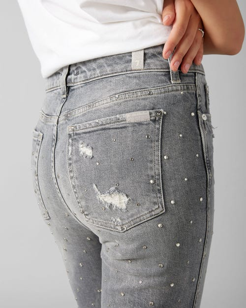 7 for all Mankind - ERIN VINTAGE HIGHLAND WITH RHINESTONES AND FRAYED HEM