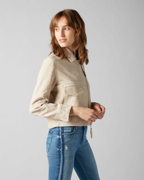 7 For All Mankind - Suede Jacket Suede Latte