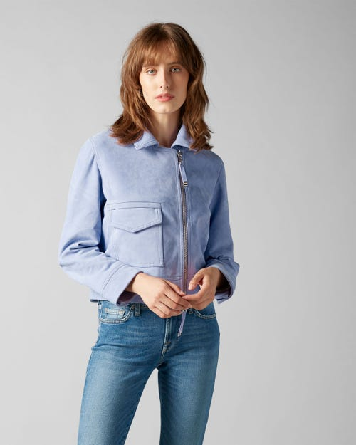 7 For All Mankind - Suede Jacket Suede Lilac