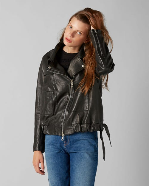 7 For All Mankind - Coulisse Jacket Leather Black