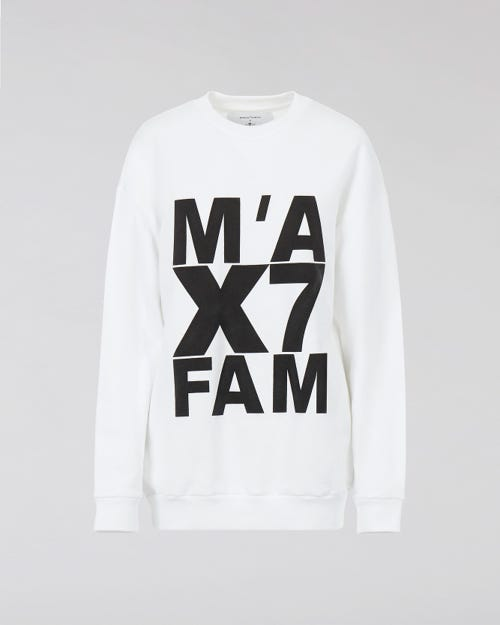 7 for all Mankind - LOGO SWEATSHIRT FLEECE WHITE M'A X 7FAM