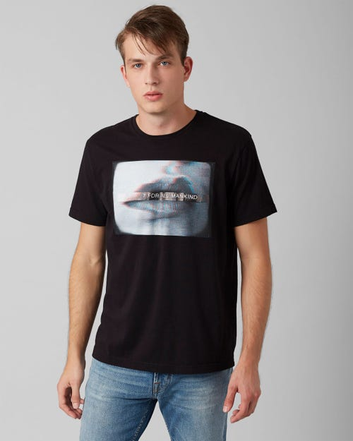 GRAPHIC TEE COTTON LIPS PURE BLACK