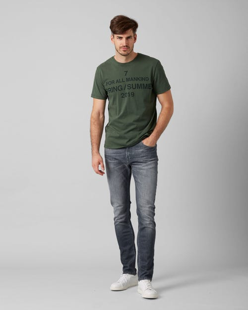 7 For All Mankind - Larry Broadway Grey With Shadow Pocket