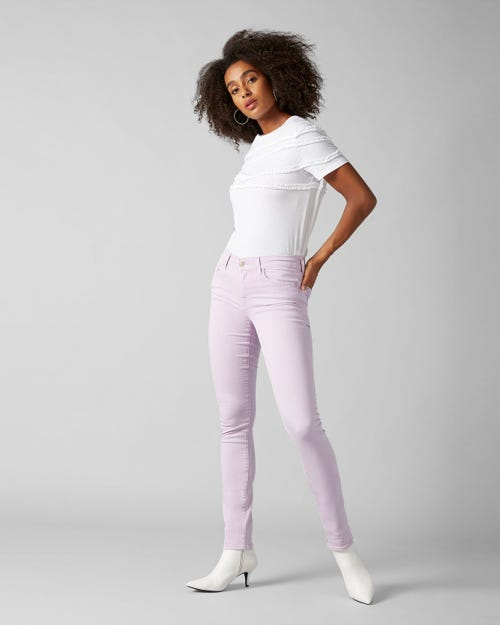7 For All Mankind - Mid Rise Roxanne Colored Slim Illusion Wisteria