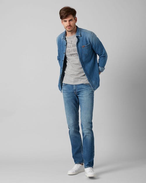 7 For All Mankind - Kayden Broadway Mid Blue With Shadow Pocket