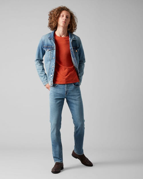 7 For All Mankind - Kayden Selvedge Vitalized Light Blue