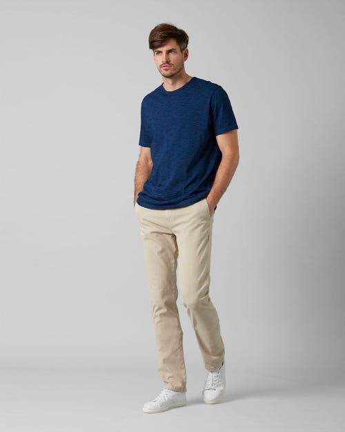 7 For All Mankind - Slimmy Chino Luxe Performance Sateen Almond Beige