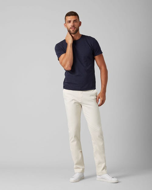 SLIMMY CHINO LUXE PERFORMANCE SATEEN SALT WHITE