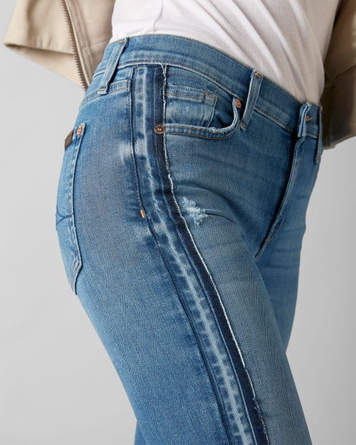 7 for all Mankind - THE SKINNY SLIM ILLUSION FIGUEROA WITH OUTSEAM UNROLLED