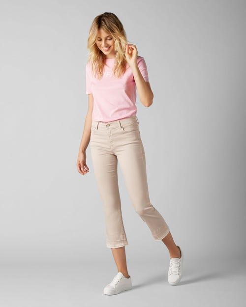 7 For All Mankind - Cropped Boot Unrolled Colored Slim Illusion Sandcastle