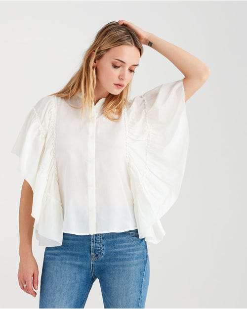 BUTTERFLY SLEEVE TOP IVORY