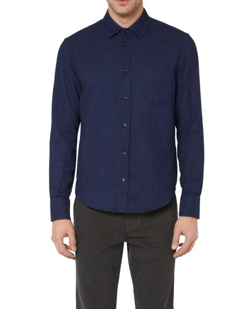 CLEAN SHIRT COTTON INDIGO