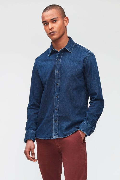 PLAIN SHIRT LUXE PERFORMANCE DARK BLUE