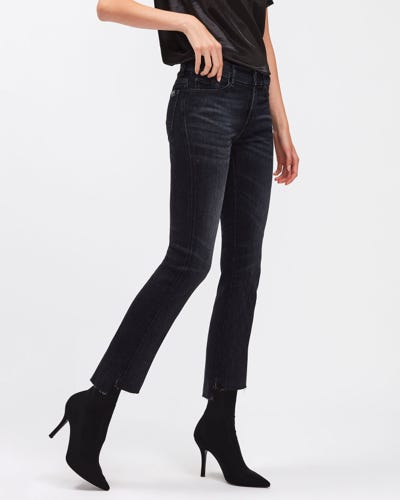 ANKLE BOOT SLIM ILLUSION LIGHTS OUT WITH STEP HEM