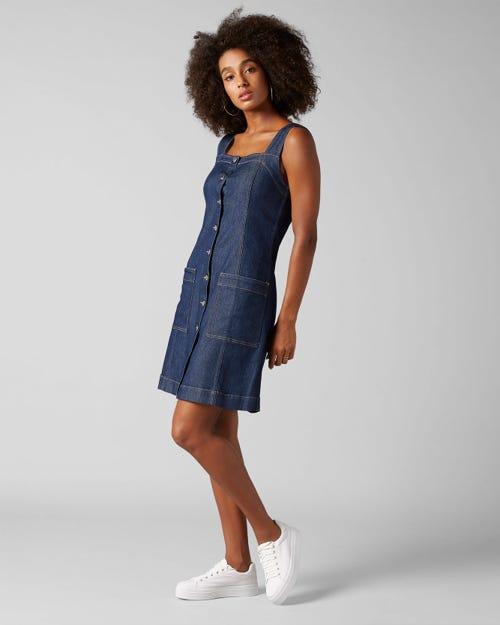 DRESS TOPANGA RINSE INDIGO