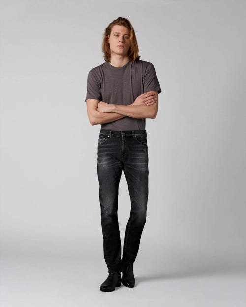 7 For All Mankind - Ronnie Texas Soul Washed Black