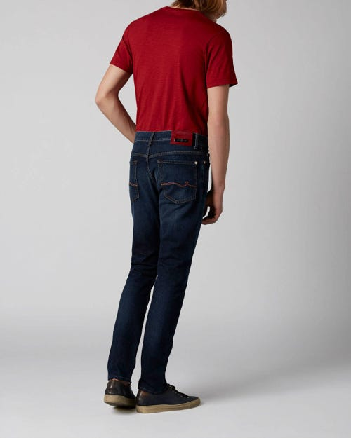 7 For All Mankind - Ronnie Special Edition Plucky Dark Blue With Emb Red Label