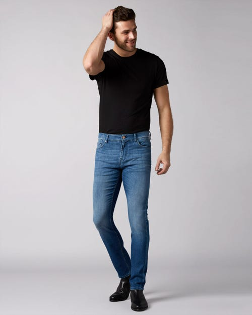 7 For All Mankind - Ronnie Left Hand Cotillo Mid Blue With Amf