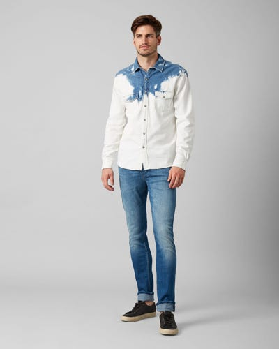 7 For All Mankind - Ronnie Special Edition Left Hand Mid Blue With Embellishment