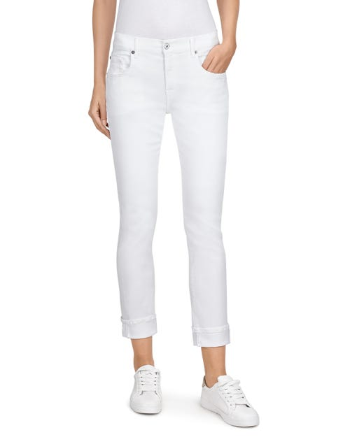 RELAXED SKINNY SLIM ILLUSION PURE WHITE