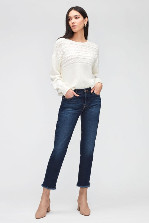 ASHER LUXE VINTAGE CHARISMA WITH STEP HEM DISTRESSED