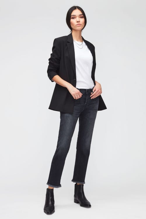 ASHER LUXE VINTAGE ANY TIME WITH STEP HEM DISTRESSED