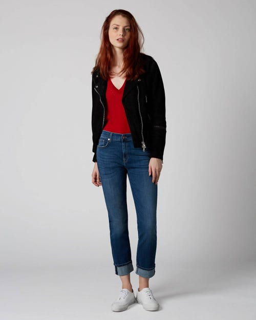7 For All Mankind - Relaxed Skinny Slim Illusion Old Song