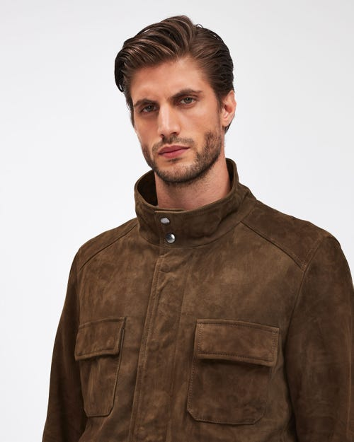 FIELD JACKET SUEDE ARMY