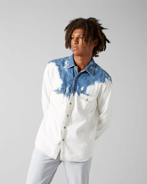 7 For All Mankind - Western Shirt Bells Beach Indigo Reduction