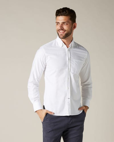 BUTTON DOWN SHIRT OXFORD WHITE