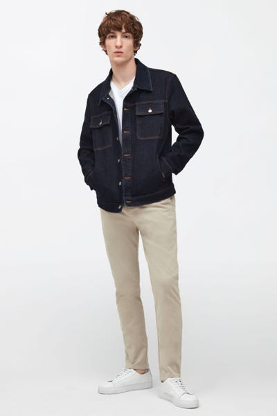 HYBRID TAPERED CHINO LUXE PERFORMANCE SATEEN STONE