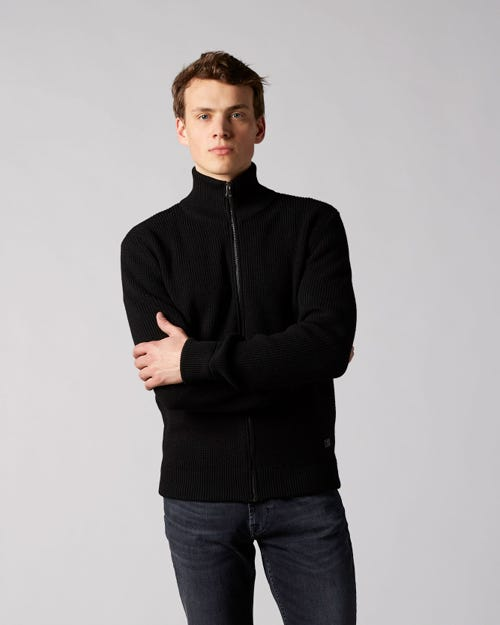 7 For All Mankind - Cardigan Wool Black With Zips
