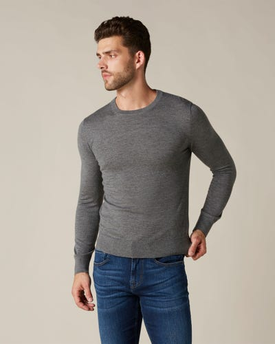 CREW NECK KNIT LIGHT CASHMERE GREY