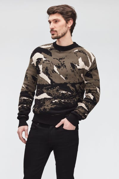 CREW NECK KNIT CAMO  MIXED COLOURS