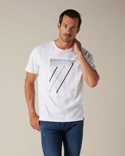 GRAPHIC TEE COTTON 7 ARCHITECTURE WHITE