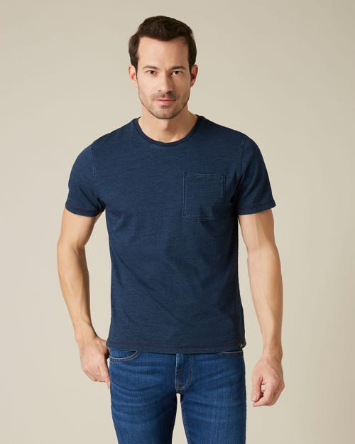 1 POCKET TEE COTTON INDIGO