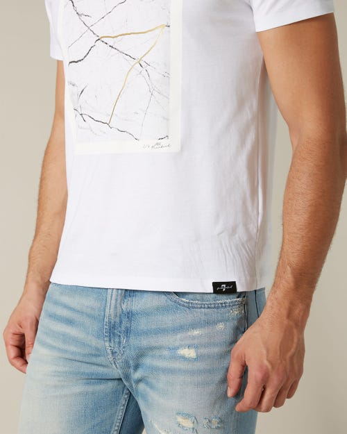GRAPHIC TEE LIGHT JERSEY MAP WHITE