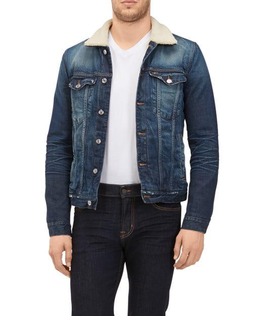 TRUCKER JACKET AGELESS LOVE VINTAGE BLUE