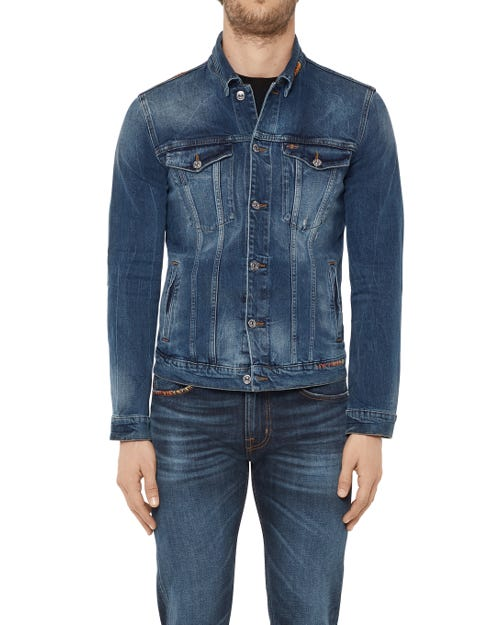 TRUCKER JACKET RODEO LEGEND DARK BLUE