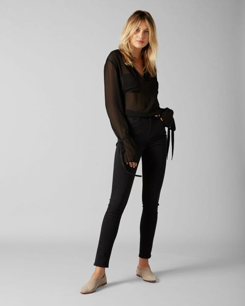 7 For All Mankind - High Waist Pyper Slim Illusion Luxe Gravity