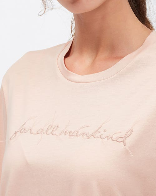 MANKIND TEE CUTIL POWDER PINK WITH EMBROIDERY