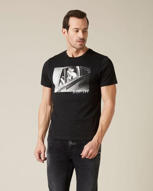 GRAPHIC TEE COTTON CAR BLACK