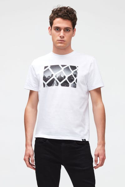 GRAPHIC TEE JERSEY VIEW  WHITE